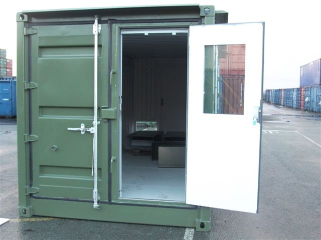 Shot Blasting Room Made From Containers