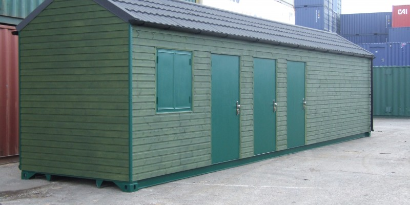 Allotment shipping container changing rooms